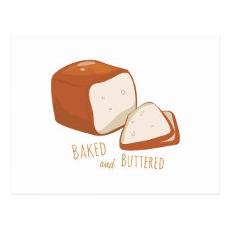 Cocido y untado con mantequilla postal