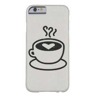 Cociendo la taza de café al vapor con el diseño funda de iPhone 6 barely there