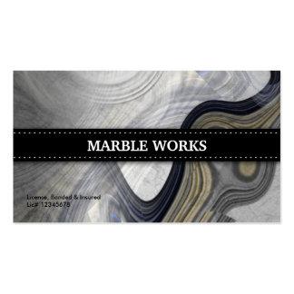 Cocina abstracta de mármol que remodela tarjetas de visita