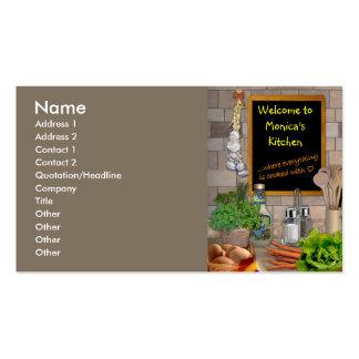 Cocina adaptable tarjeta de visita
