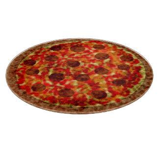Cocina americana italiana de la pizza de tablas para cortar