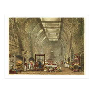 Cocina antigua, castillo de Windsor, grabado por Postal