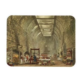 Cocina antigua, castillo de Windsor, grabado por W Imán