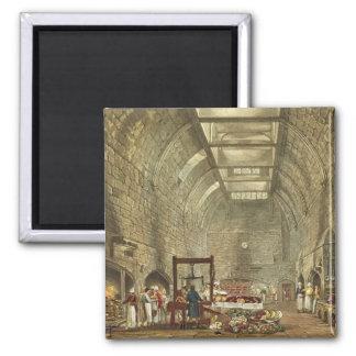 Cocina antigua, castillo de Windsor, grabado por W Imán Cuadrado