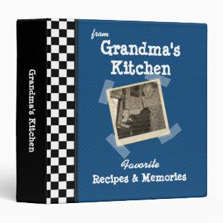 "Cocina azul 1,5"" de las abuelas receta de encargo carpeta 1 1/2"""