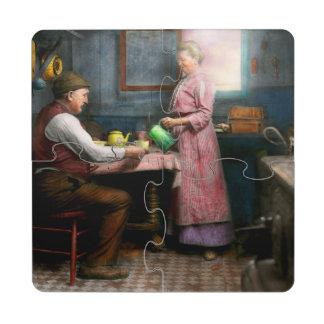 Cocina - café 1915 de la mañana posavasos de puzzle