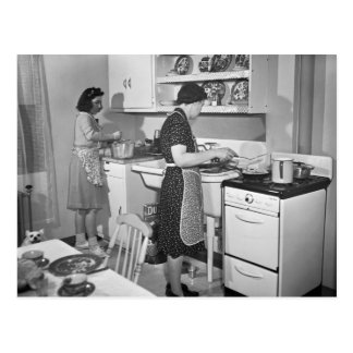Cocina casera: 1942 postal