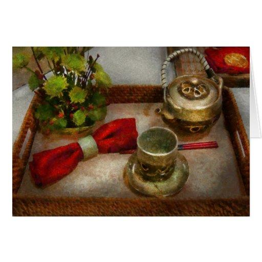 Cocina - ceremonia de té formal tarjeta de felicitación