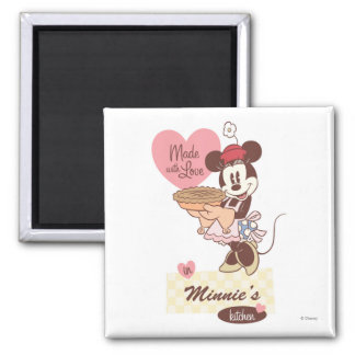 Cocina clásica de Minnie el   Imán Cuadrado