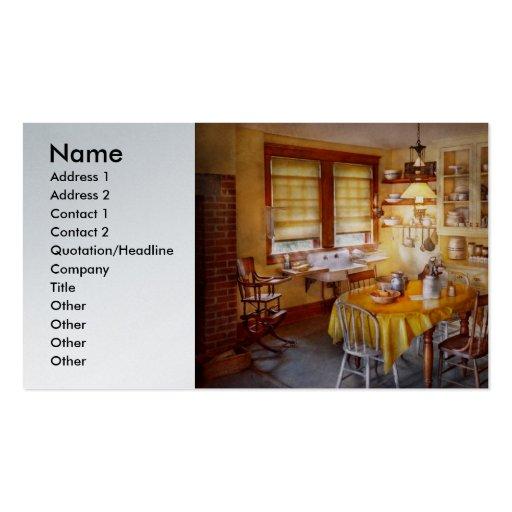 Cocina - cocina típica de la granja tarjetas personales