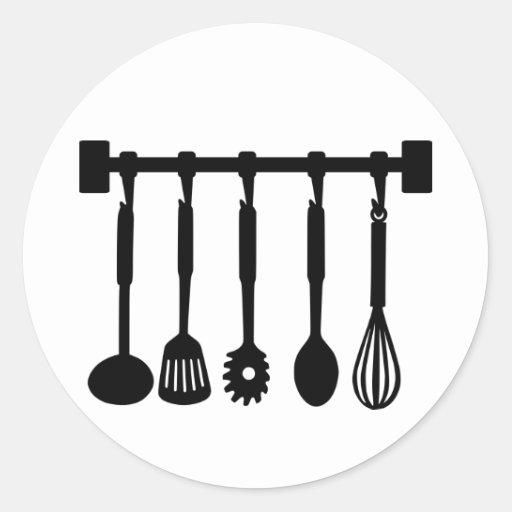 Cocina - cocinero etiqueta redonda