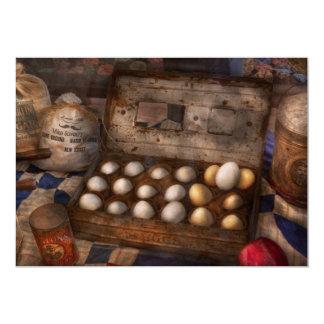 Cocina - comida - huevos - 18 huevos invitación 12,7 x 17,8 cm