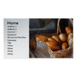 Cocina - comida - pan - pan fresco plantillas de tarjeta de negocio
