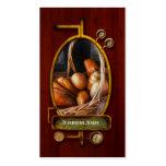 Cocina - comida - pan - pan fresco tarjetas de visita
