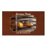 Cocina - comida - pan - pan recientemente cocido tarjetas personales