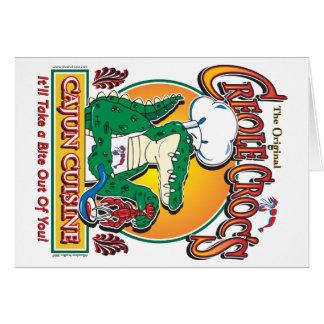 Cocina de Cajun Crocs Ceole Tarjeta De Felicitación