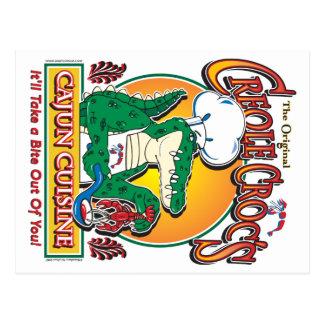 Cocina de Cajun Crocs Ceole Tarjetas Postales