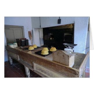 Cocina de Edwardian en Erddig Pasillo Tarjeta De Felicitación