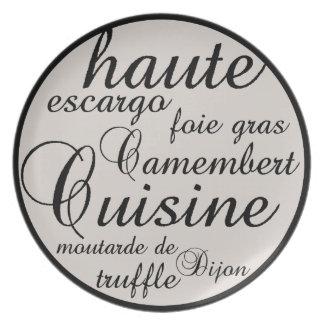 Cocina de Haute Platos
