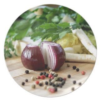 Cocina de la cebolla plato de comida