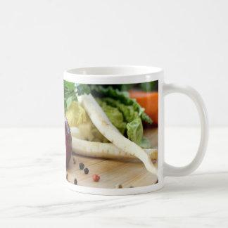 Cocina de la cebolla tazas de café