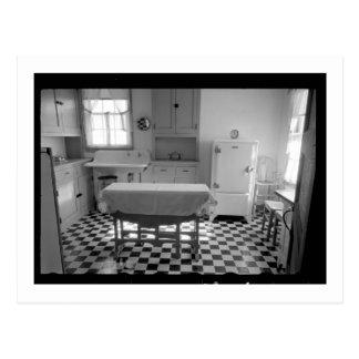 Cocina de la granja de la Depresión-Era Tarjeta Postal