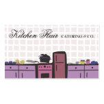 cocina de la teja que cocina tarjetas de visita de