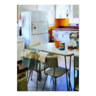 Cocina de los años 50 invitación 12,7 x 17,8 cm