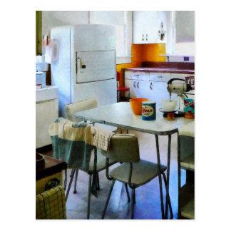 Cocina de los años 50 postales