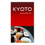 Cocina de los restaurantes del abastecimiento del  plantillas de tarjetas personales