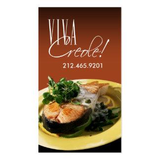 Cocina de los restaurantes del abastecimiento del tarjetas de visita