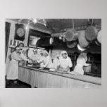 Cocina del hotel de Lafayette, 1900s tempranos Posters