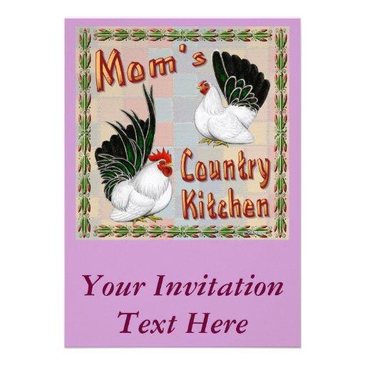 Cocina del país de la mamá invitación