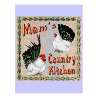 Cocina del país de la mamá postales