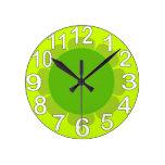 Cocina del país de la verde lima reloj de pared