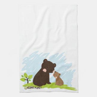 Cocina del planeta orgánico de los osos y toallas