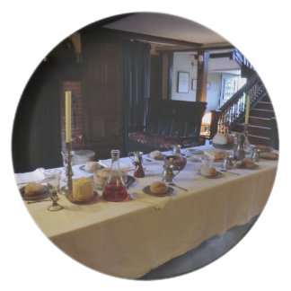 Cocina del siglo XVII en viejo Moseley Pasillo Platos De Comidas