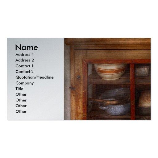 Cocina - el gabinete de enfriamiento plantilla de tarjeta personal