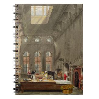Cocina, el palacio de San Jaime, grabado por Guill Libro De Apuntes