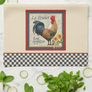 Cocina-Gallo francés del país Toalla