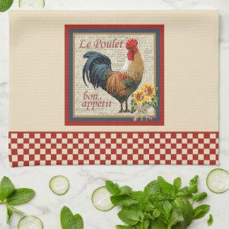 Cocina-Gallo francés del país Toallas