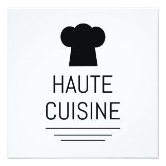 """Cocina gastrónoma francesa de Haute Invitación 5.25"""" X 5.25"""""""