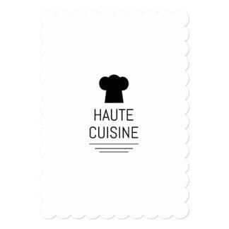 """Cocina gastrónoma francesa de Haute Invitación 5"""" X 7"""""""