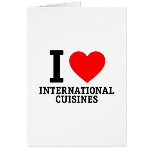 Cocina internacional tarjeta