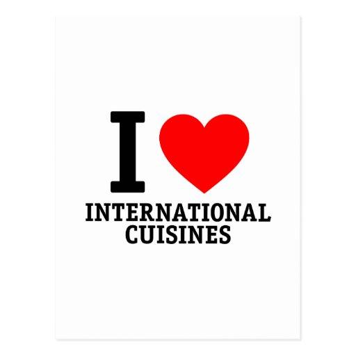 Cocina internacional tarjetas postales