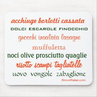 Cocina italiana Mousepad Alfombrillas De Ratones