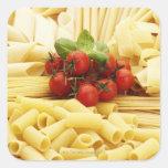 Cocina italiana. Pastas y tomates Pegatina