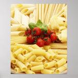 Cocina italiana. Pastas y tomates Póster