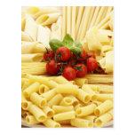Cocina italiana. Pastas y tomates Tarjeta Postal
