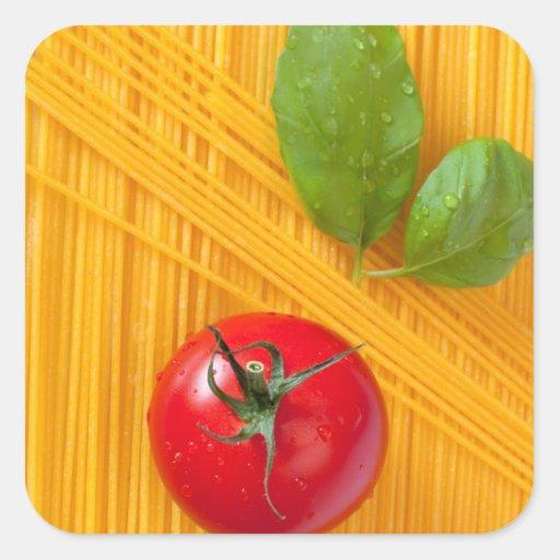 Cocina italiana pegatina cuadrada